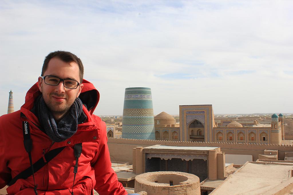 Aitor en el Itchan Kala - Khiva