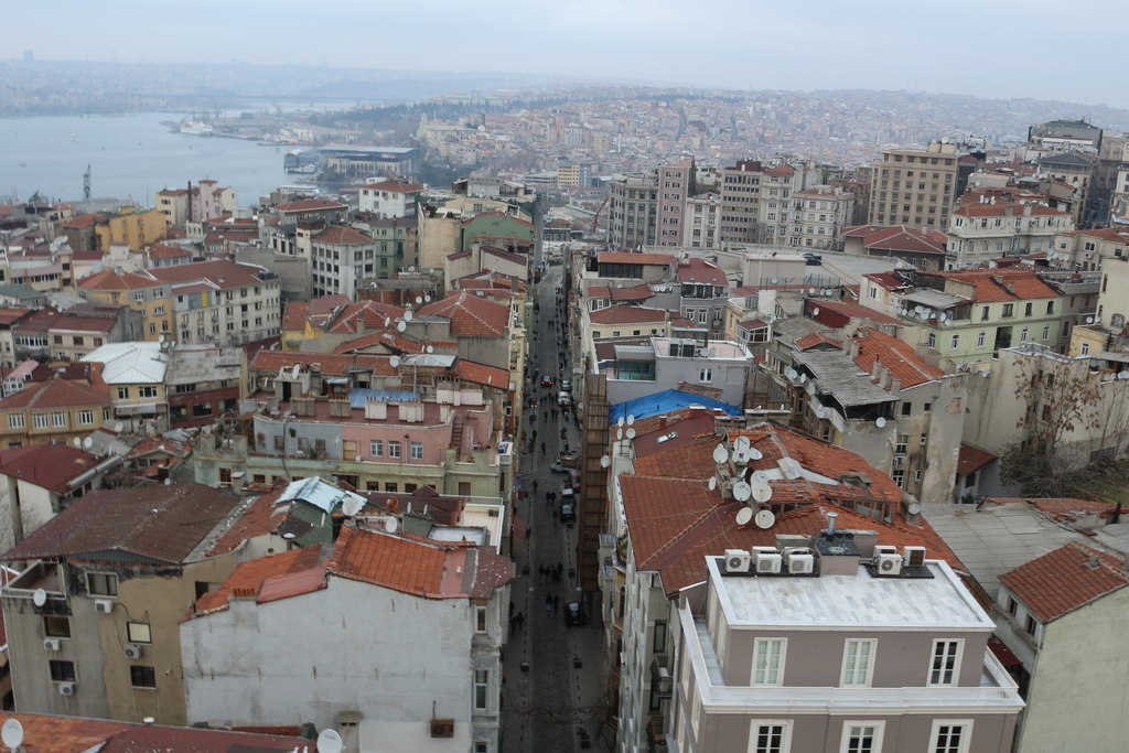 Calles del barrio europeo de Beyoglu