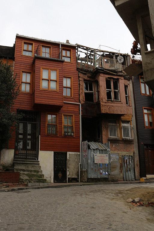 Casas abandonadas en el barrio de Fener - Estambul