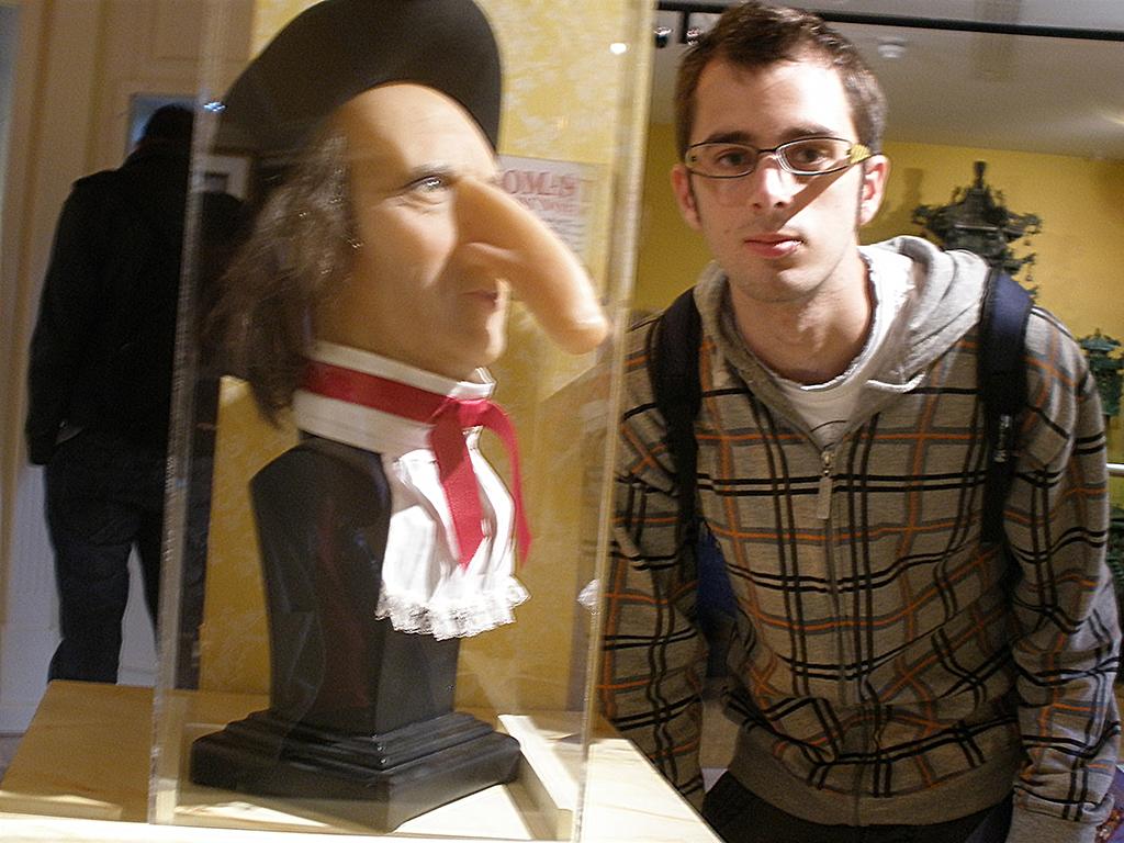 Comparativa de narices en el museo Ripley