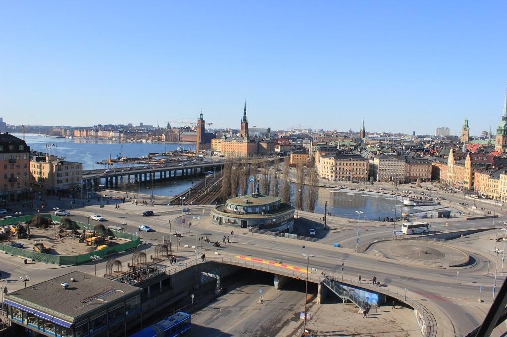 Encrucijada de carreteras en Estocolmo
