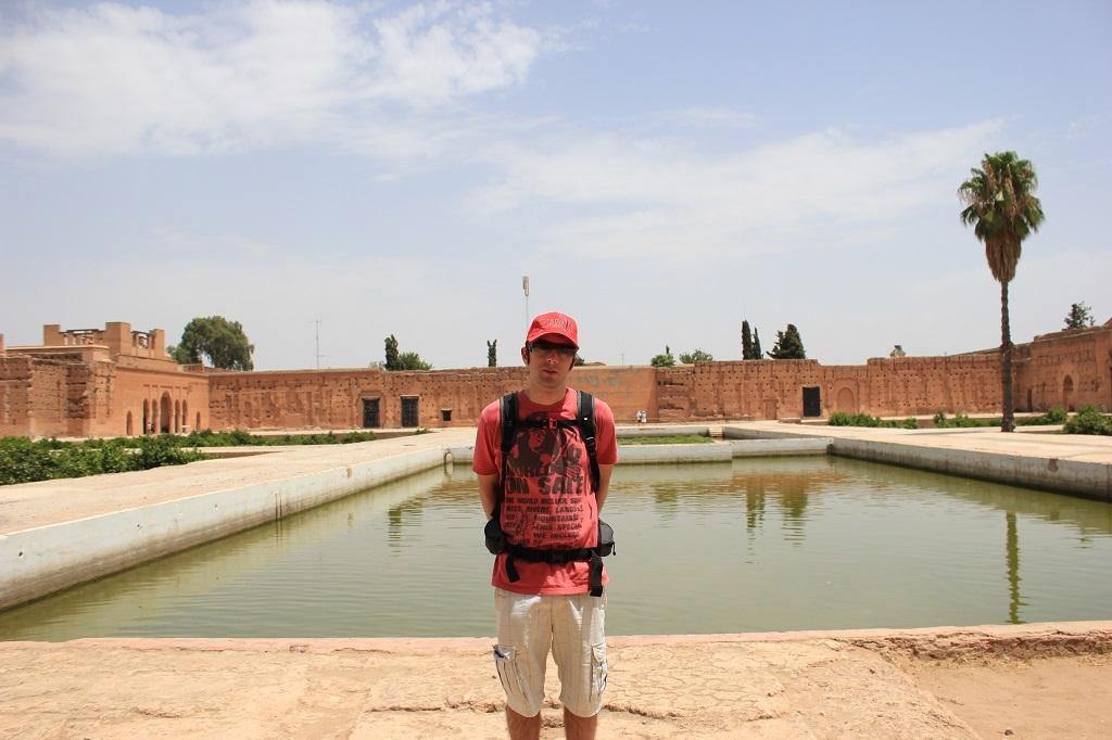 Estanque en el palacio Badi