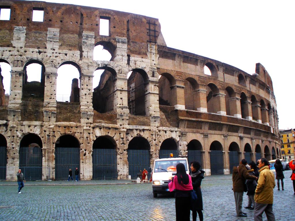 Exterior coliseo romano