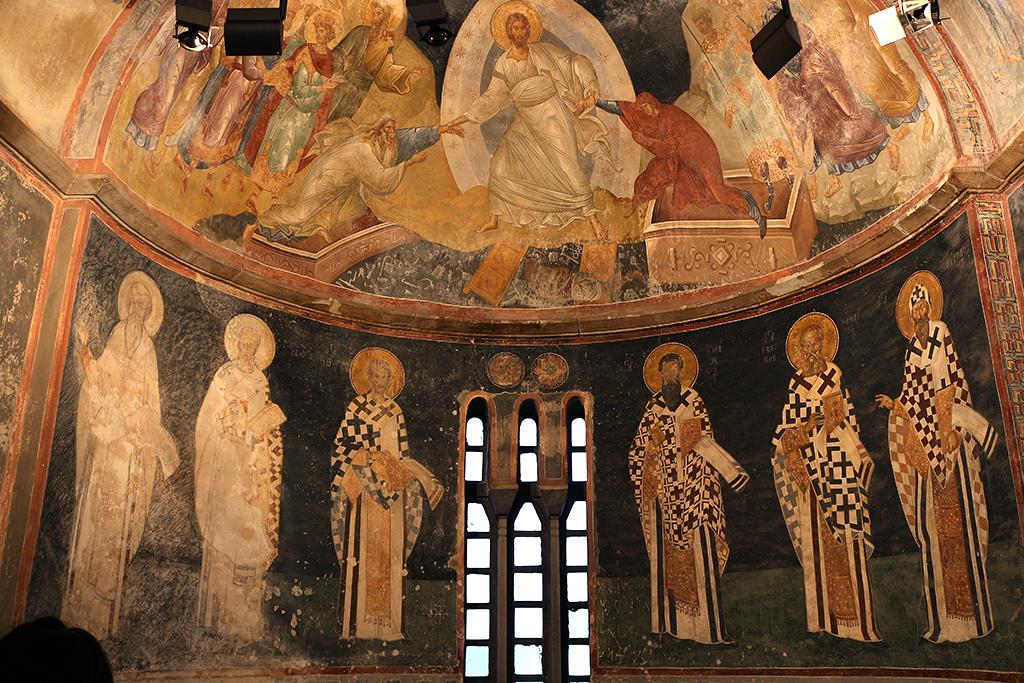 Fresco de la resurrecion de Cristo en San Salvador de Chora