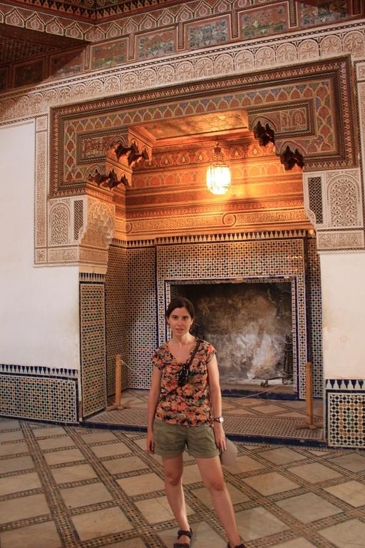 Fuego a tierra en el palacio Bahia - Marrakech