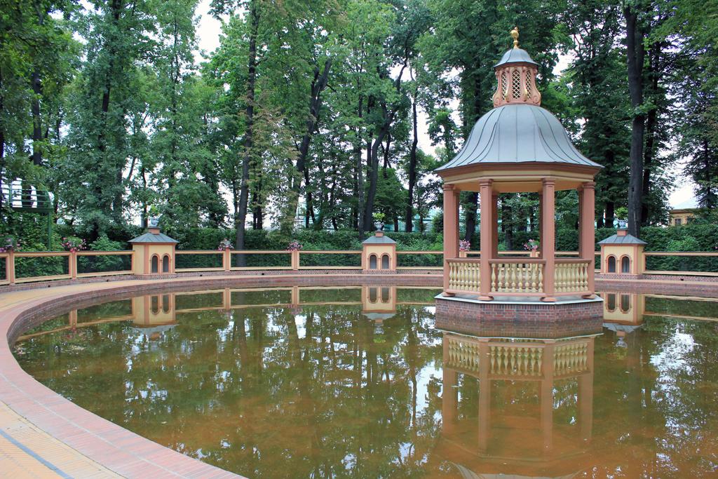 Fuente en parque de San Petersburgo