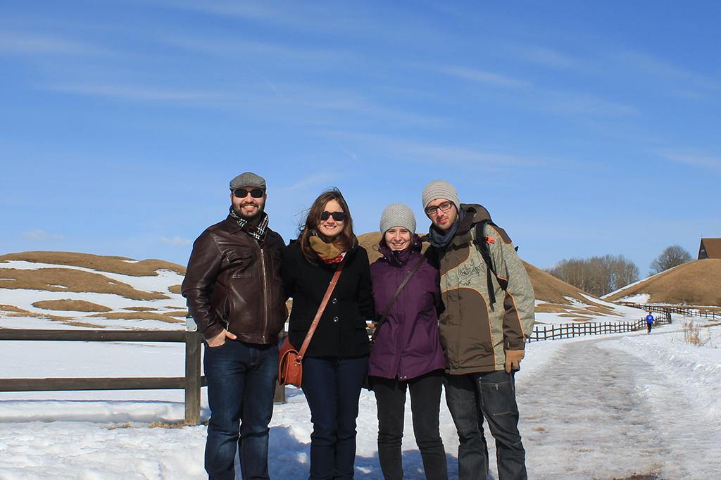 Gorkem, Helena, Henar y Aitor en Uppsala