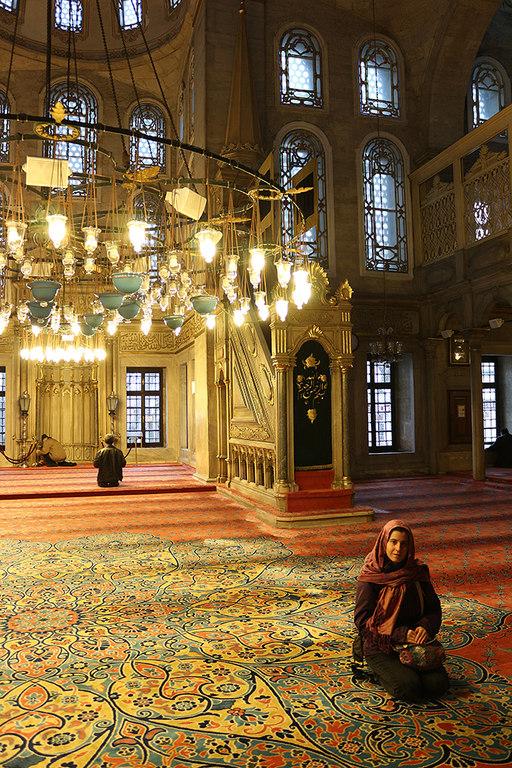Henar en la mezquita de Eyup