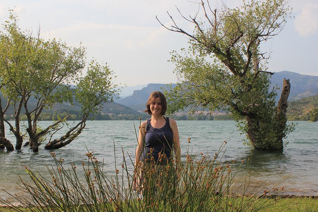 Henar en la zona del chiringuito de Pobla en el lago