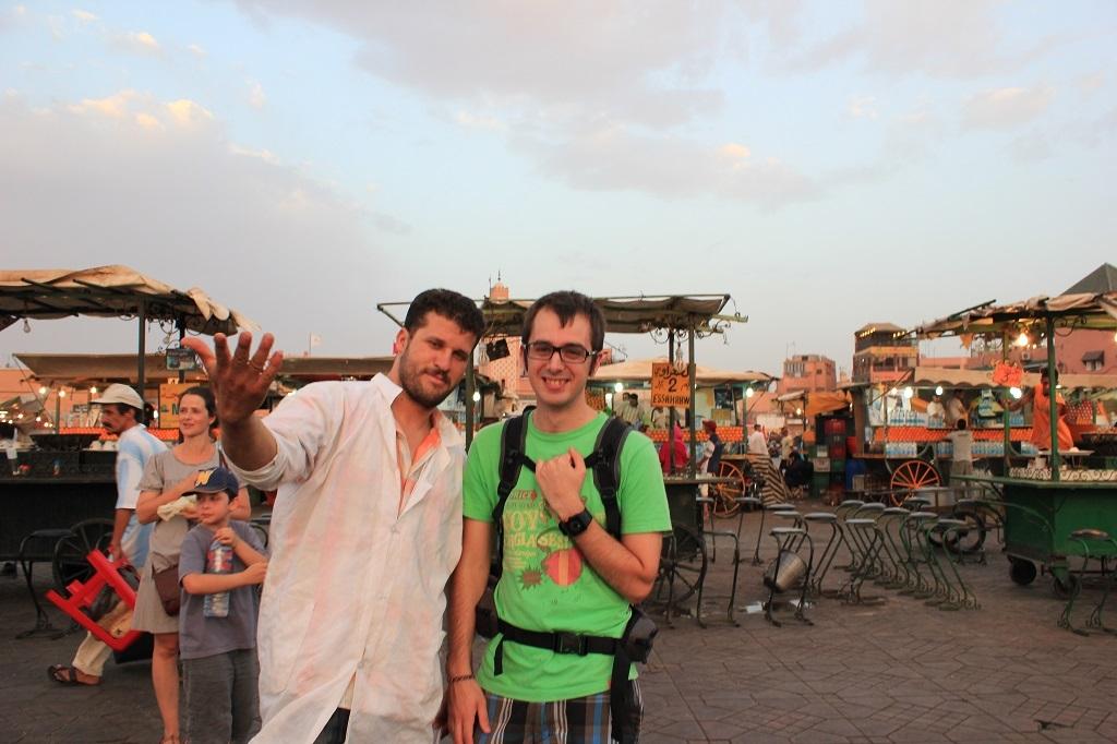 Plaza Djemaa el Fna en Marruecos