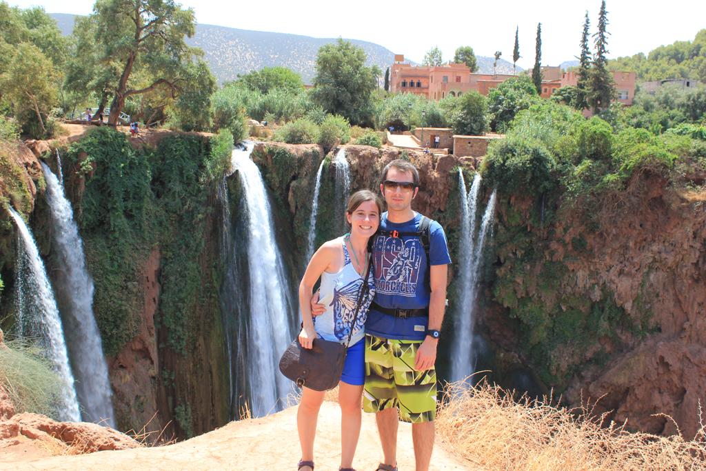 Henar & Aitor en las cascadas de Ouzoud - Marruecos