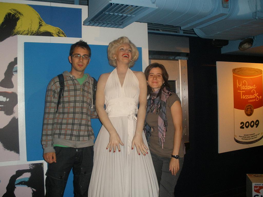 Marilyn Monroe en el Madame Tussauds de Londres