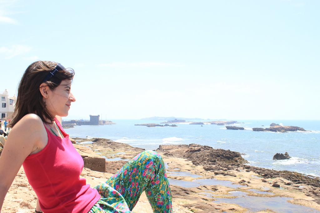 Henar en la muralla costera Essaouira