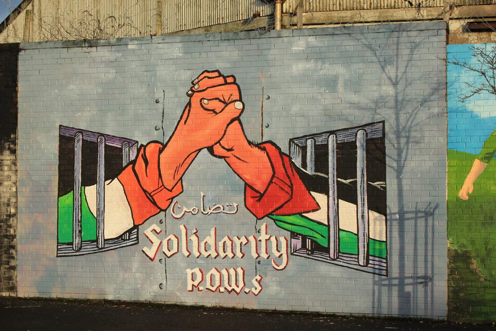 Solidaridad murales de Belfast