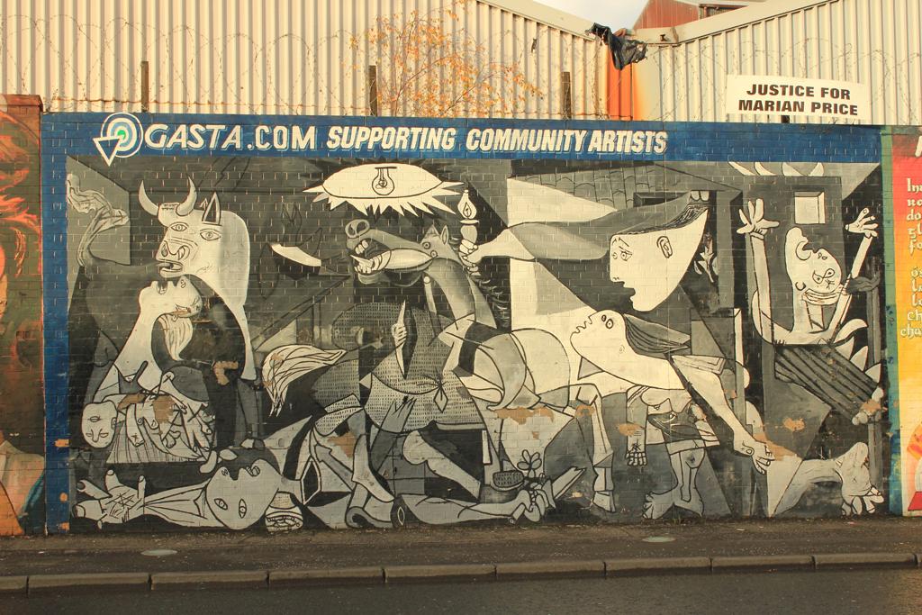 Guernica en los murales de Belfast