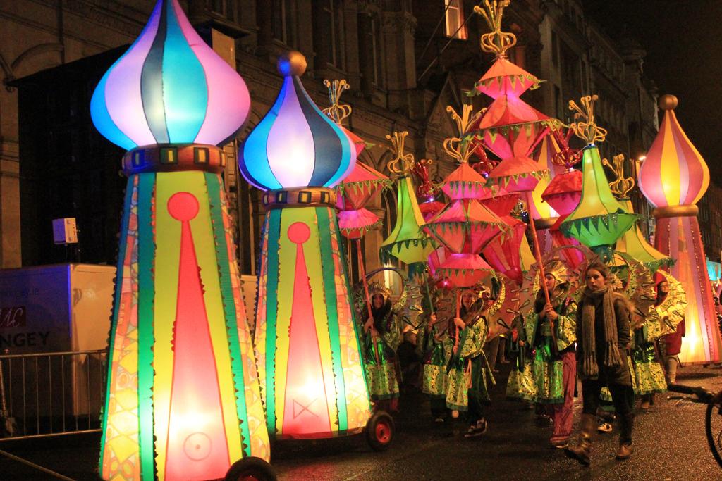 Desfile de luces - Dublín