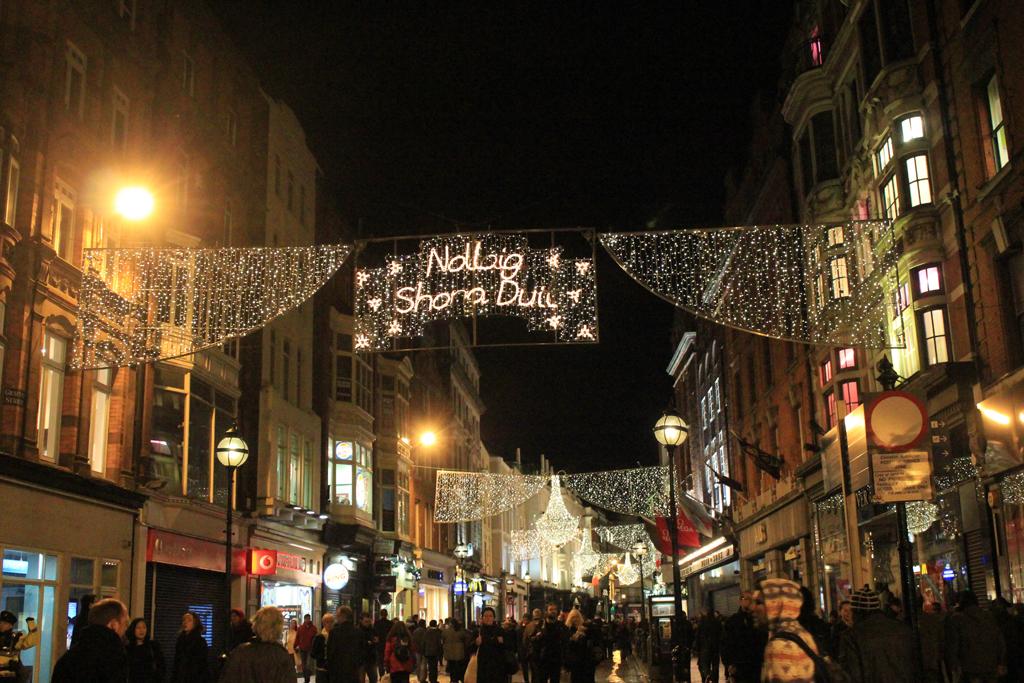 Calle principal de Dublín