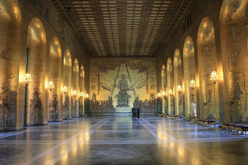 Salón Dorado - Ayuntamiento de Estocolmo