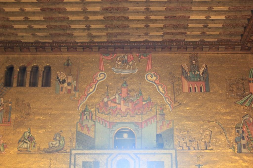 Detalle San Jorge en el Salón Dorado