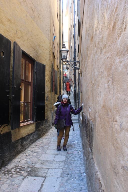 La calle más estrecha de Estocolmo