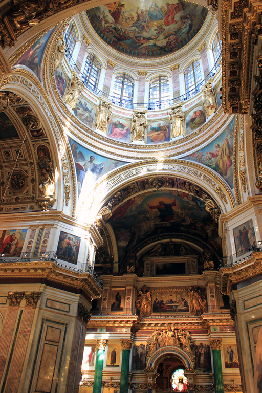 Interior catedral San Isaac - cupula