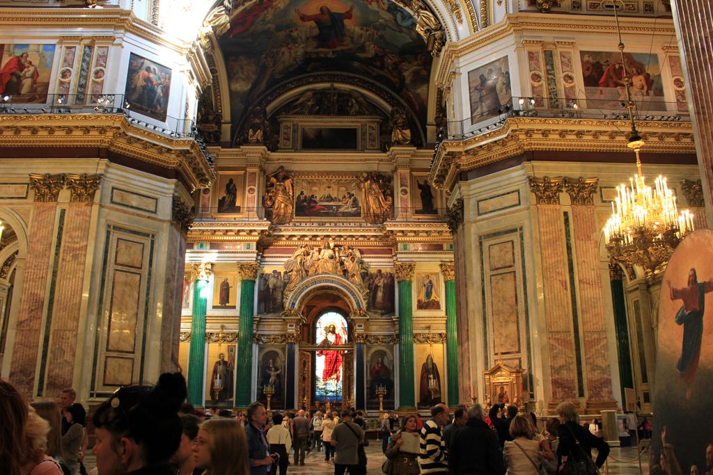 Interior catedral San Isaac
