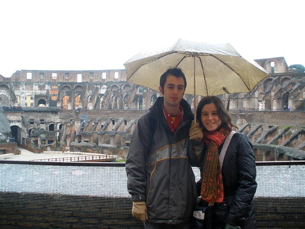 Interior coliseum de Roma