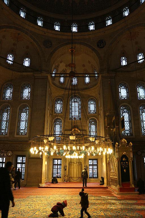 Interior de la mezquita de Eyup