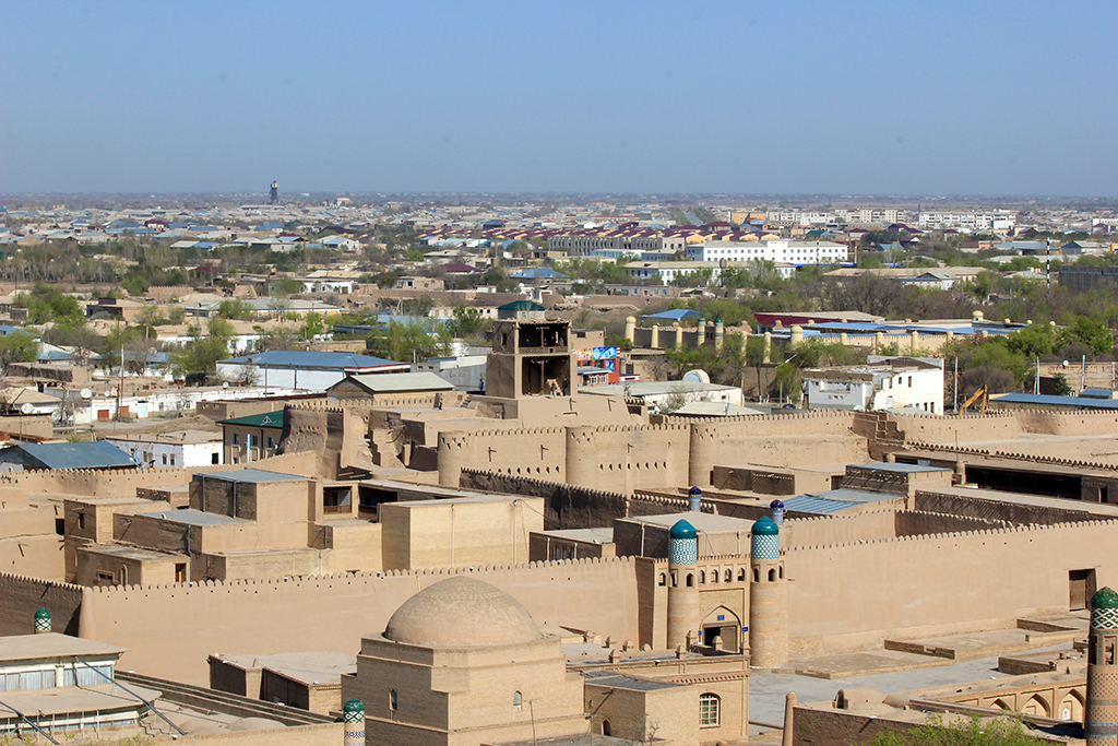 Itchan Kala visto desde el minarete Islam Khoja
