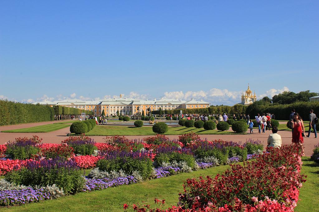 Jardines altos Peterhof