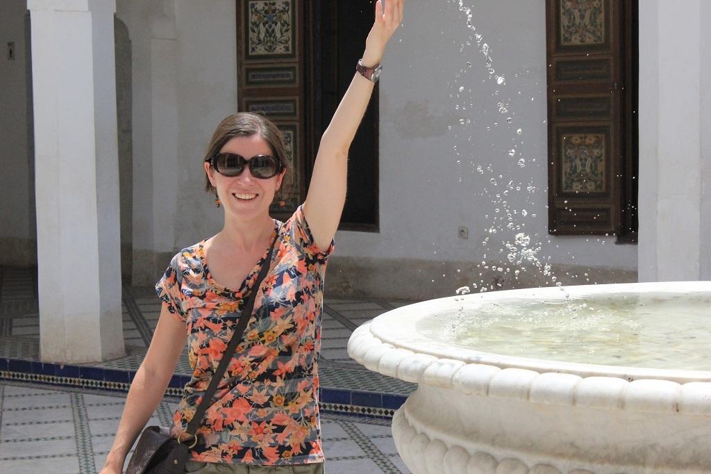 Jugando con el agua en el palacio Bahia