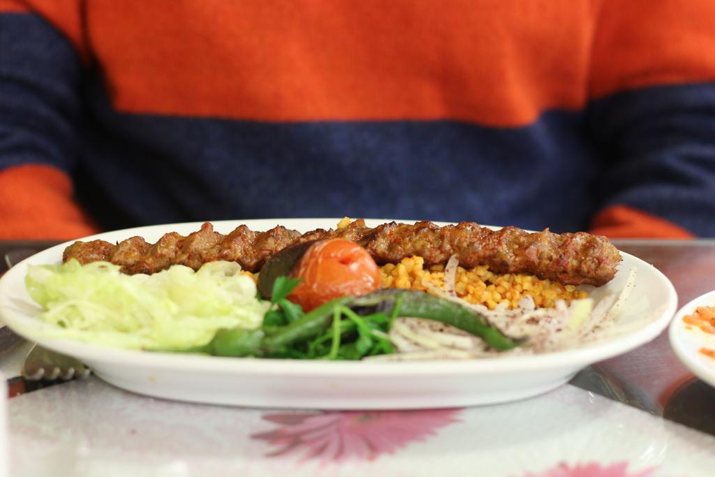 Kebab turco de una sola pieza picante