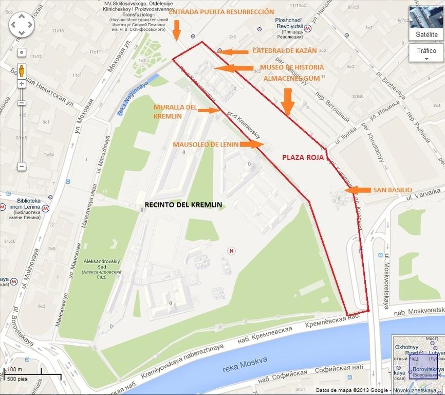Mapa Plaza roja