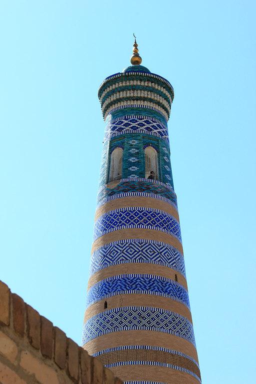 Minarete Islam Khoja en Khiva - Uzbekistan