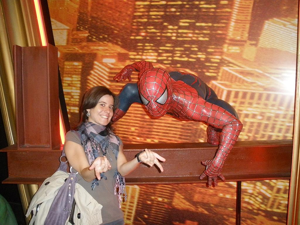 Spiderman en el Madame Tussauds de Londres