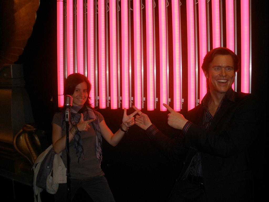 Jim Carrey en el Madame Tussauds de Londres