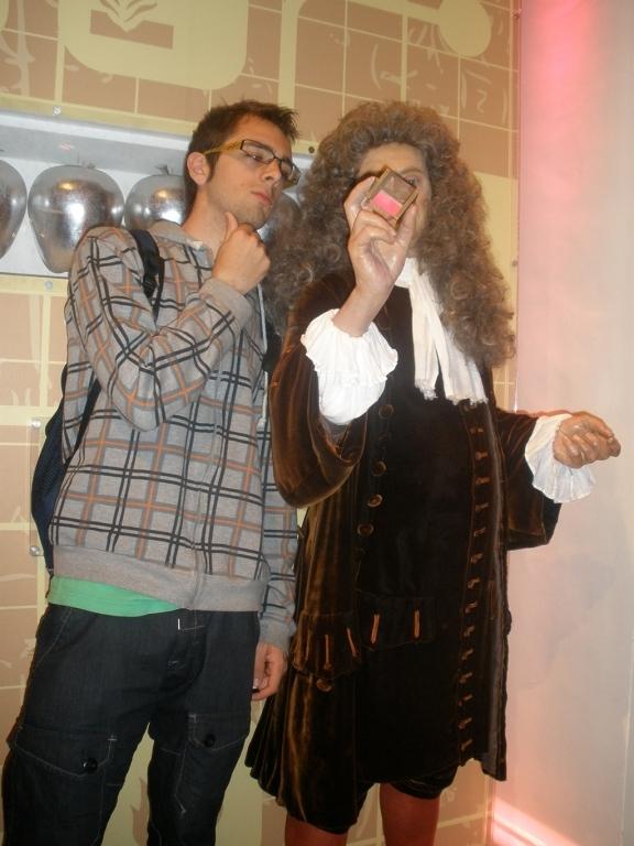 Isaac Newton en el Madame Tussauds de Londres