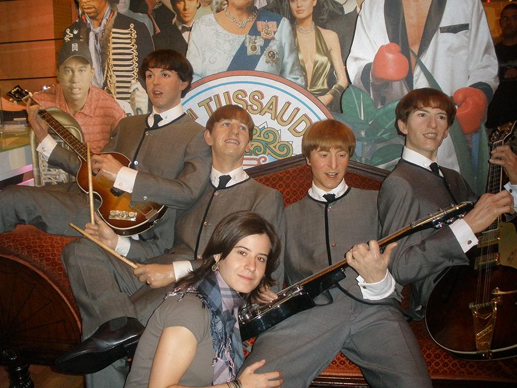 The Beattles en el Madame Tussauds de Londres