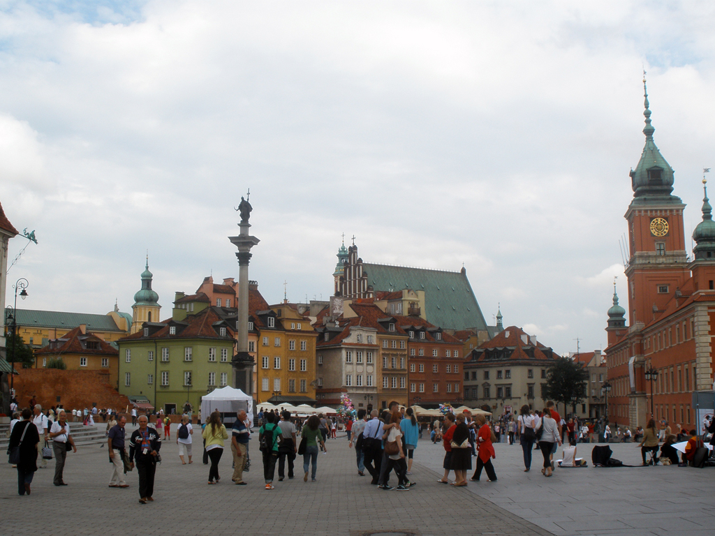 Centro de Varsovia colorido