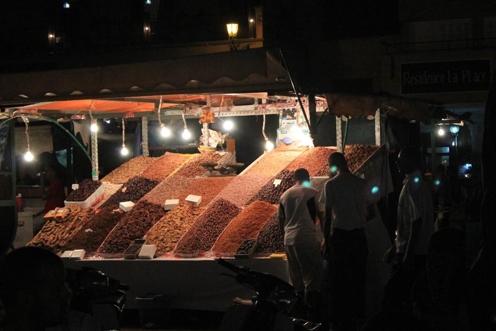 Parada de dulces en Marruecos