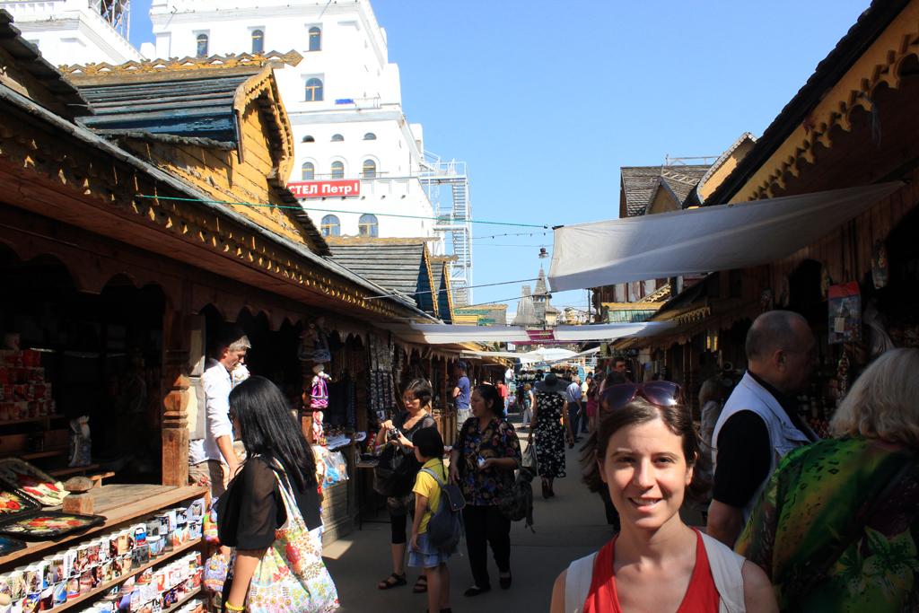 Paseando por el mercado de Izmailovo