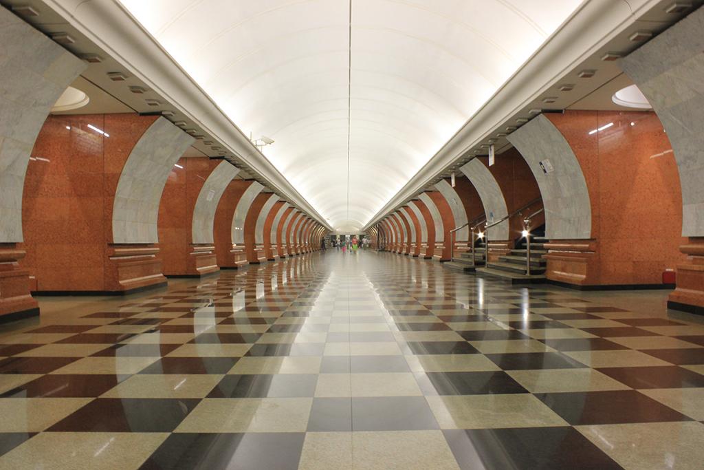 Pasillos metro de Moscú