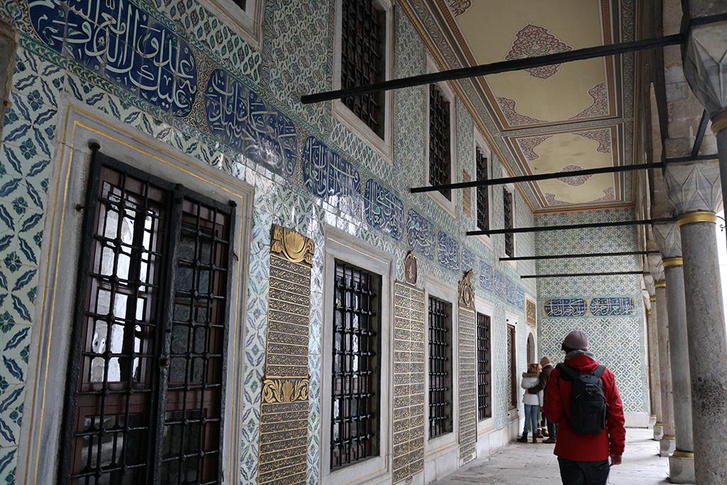 Patio de los eunucos negros en el haren del palacio Topkapi