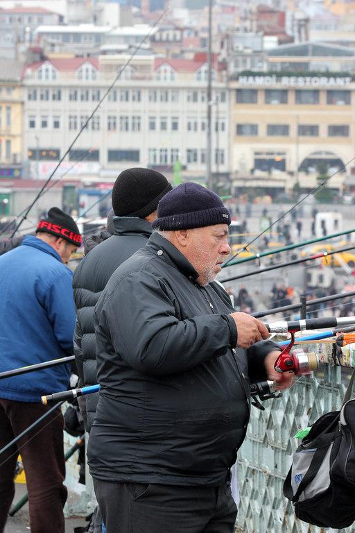 Pescador puente Galata