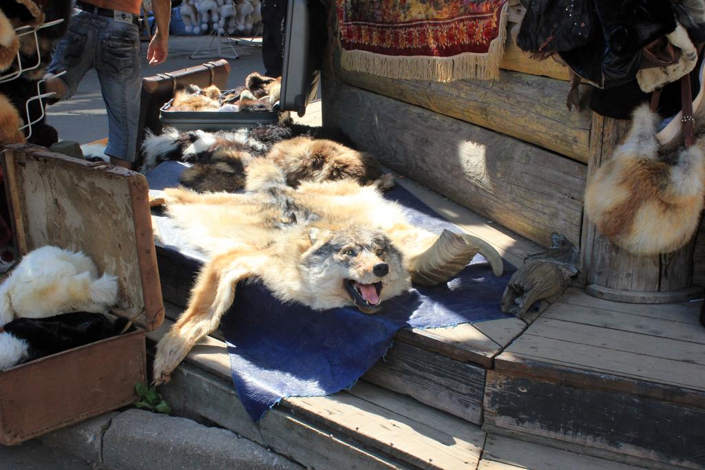Piel de Lobo en el Mercado Izmailovo