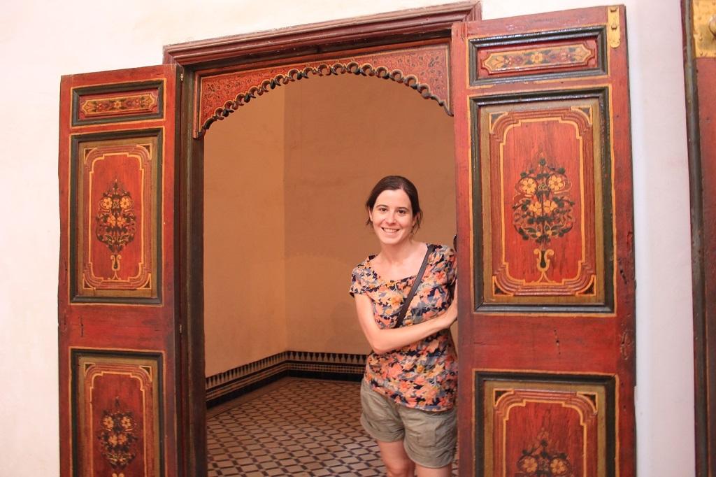 Puerta decorada en el Palacio Bahia