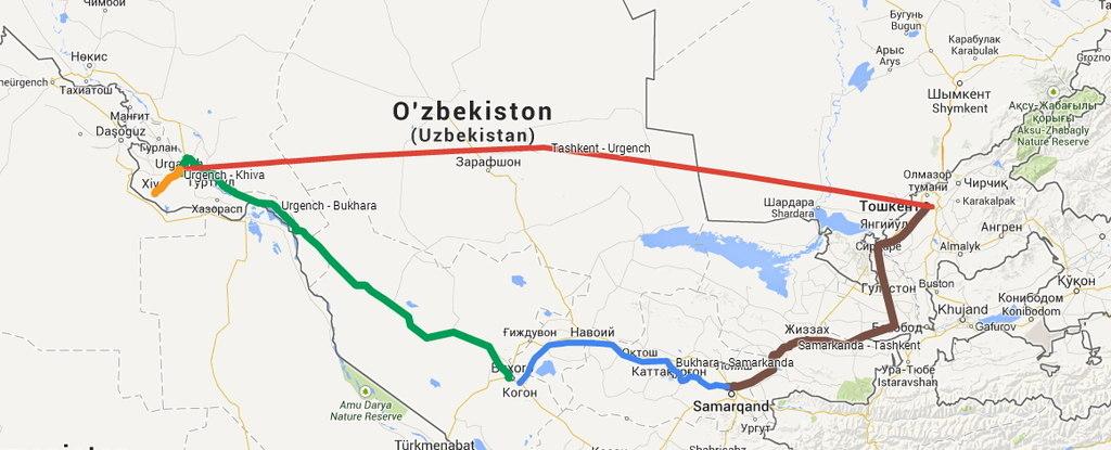 Ruta por Uzbekistan