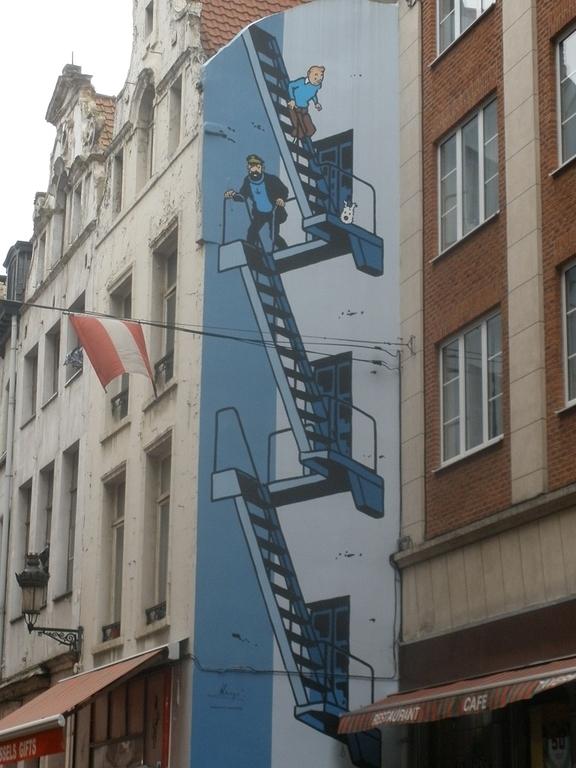 Mural de Tintín en Bruselas