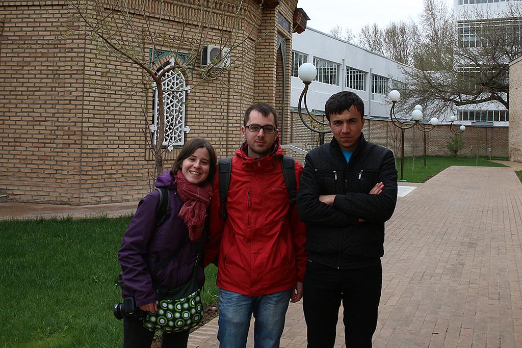 Uno de los chicos que nos hizo de guia en Tashkent
