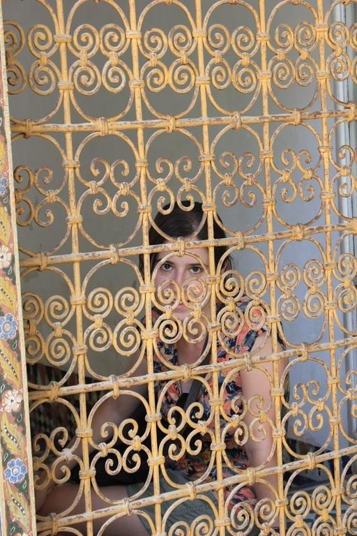Ventanas del palacio Bahia en Marrakech